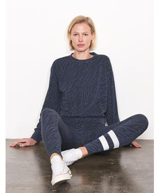 ZEBRA BASIC SWEATSHIRT STONE BLUE