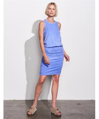 SLEEVELESS DRESS PIGMENT AZUFRE