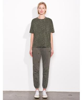 LEOPARD OVERSIZED TEE PIGMENT MILITARY