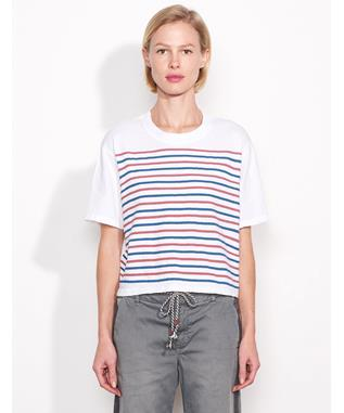 BOXY TEE WITH STRIPES