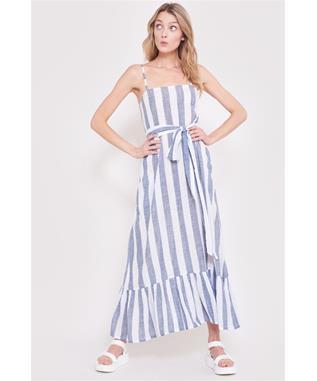 BOLA STRIPE AARON DRESS NAVY