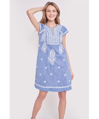 CHAMBRAY FAITH DRESS CHAMBRAY