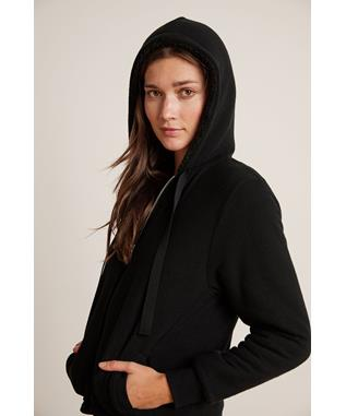 WOMENS MOLLY COZY JERSEY HOODIE BLACK
