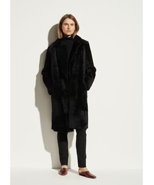 SHEARLING COAT BLACK