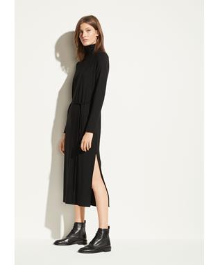 L/S TURTLENECK DRESS BLACK