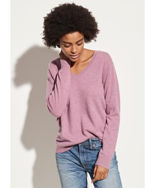 CASHMERE WEEKEND V-NECK H AMARENA