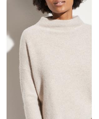 BOILED CASHMERE FUNNEL NECK PULLOVER MARBLE