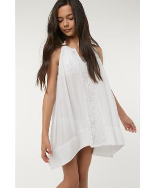 GIRLS RILEE TANK DRESS COVER UP WHITE