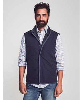 THE REVERSIBLE VEST NAVY CHARCOAL