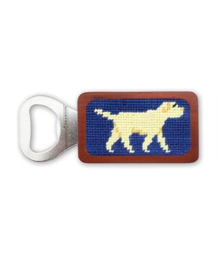 Yellow Lab Needlepoint Bottle Opener CLASSIC NAVY