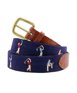 Mulligan  Needlepoint Belt DARK NAVY