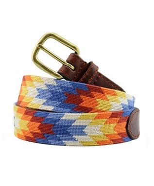 Starburst Needlepoint Belt MULTI
