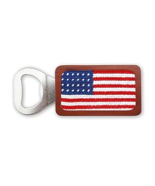 American Flag Needlepoint Bottle Opener MULTI