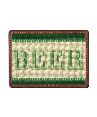 Beer Money Needlepoint Card Wallet MULTI