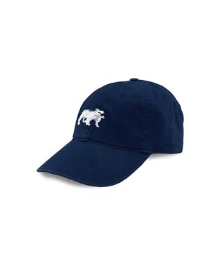 Bulldog Needlepoint Hat NAVY