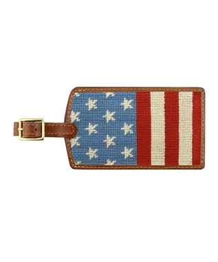 Stars and Stripes Needlepoint Luggage Tag MULTI