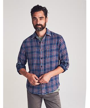 THE REVERSIBLE SHIRT WASHED INDIGO PLAID