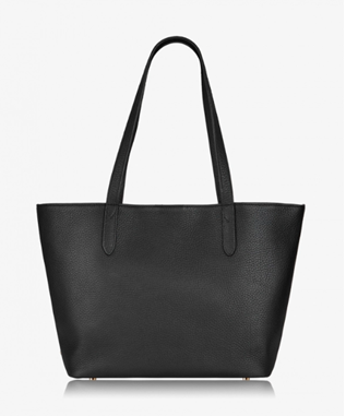 TEDDIE TOTE PEBBLE GRAIN BLACK