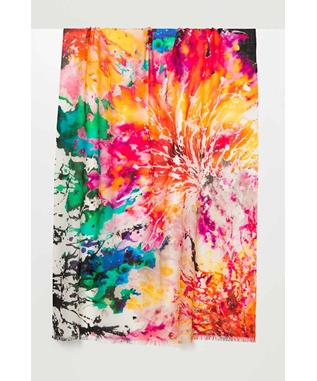 SPLASH FLORAL PRINTED SCARF MULTI