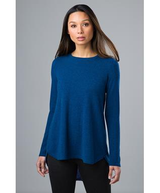 PLEAT BACK TUNIC WINTER TEAL