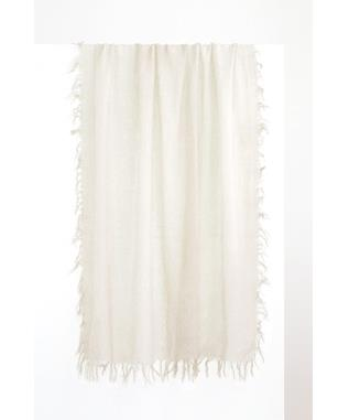 SPRAY PRINT SCARF IVORY