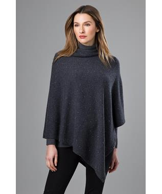 CRYSTAL PONCHO BLACK