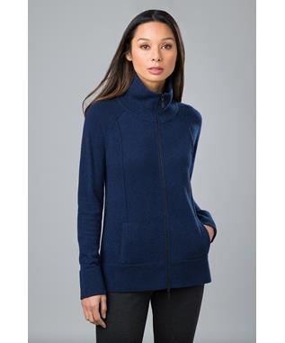 SPORTY ZIP CARDIGAN NAVY