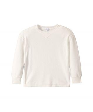 GIRLS PLUSH ACTIVE TOP OFF WHITE