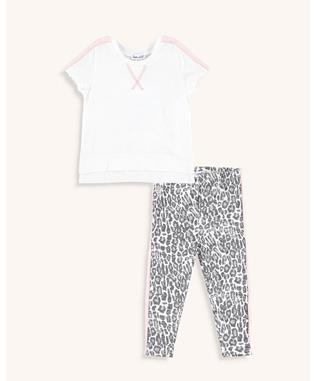 LEOPARD SET OFF WHITE