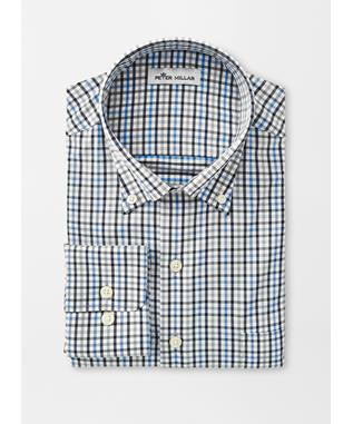 ASPEN MULTI CHECK PERFORMACE STRETCH SPORT SHIRT LIBERTY BL