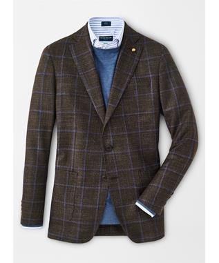 HUNT WINDOWPANE SOFT JACKET ESPRESSO