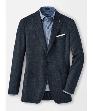 WELLINGTON WINDOWPANE SOFT JACKET EGEO BLUE