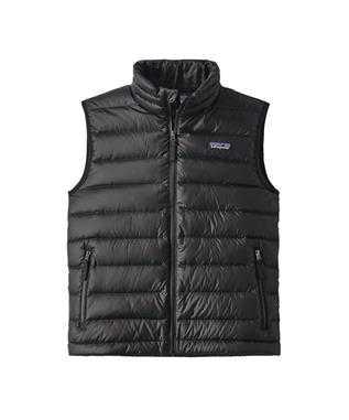 BOYS DOWN SWEATER VEST BLK-BLACK