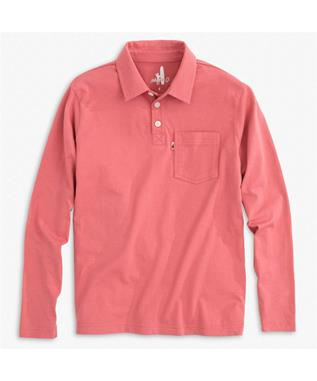 KIP JR. LONG SLEEVE POLO MALIBU RED