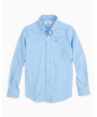 BOYS INTERCOASTAL SOLID SHIRT OCEAN CHANNEL