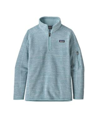 GIRLS BETTER SWEATER 1/4 ZIP BIG SKY BLUE