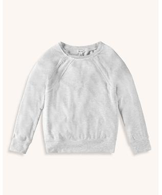 GIRLS STITCHED PULLOVER SWEATER ICE GRAY