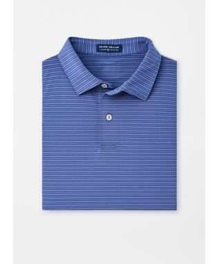 COLTRANE STRIPE STRETCH JERSEY POLO INK WINDSOR BLUE