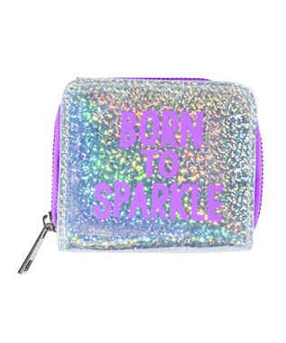 BORN TO SPARKLE HOLOGRAM WALLET ASSORTED