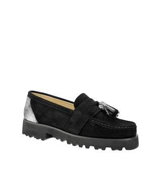 RITA HAIRCALF TASSLE LOAFER