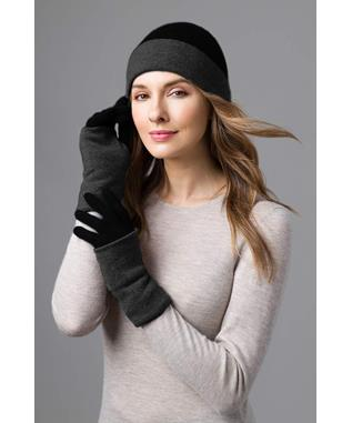 COLORBLOCK GLOVES BLACK/CHARCOAL