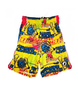 BOYS ZOMBIE LACROSSE ATTACK SHORTS YELLOW