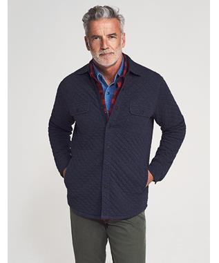 QUILTED BELMAR CPO DARK NAVY HEATHER