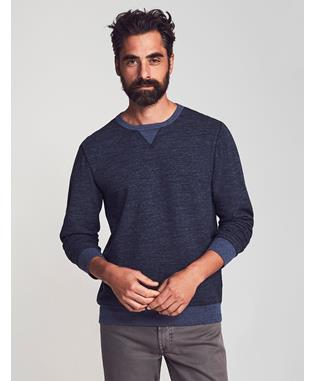 DUEL KNIT CREWNECK NAVY