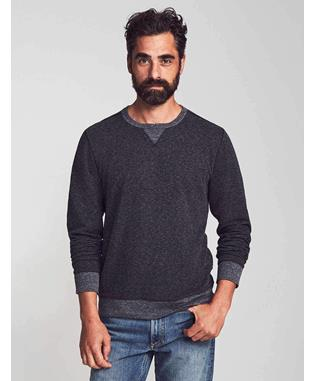 DUEL KNIT CREWNECK WASHED BLACK