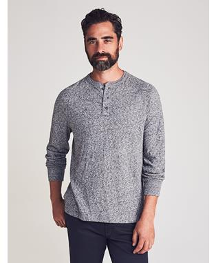 LUXE HEATHER HENLEY CHARCOAL