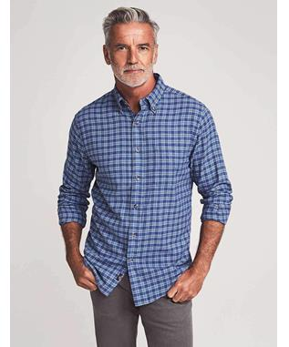 BD BRUSHED EVERYDAY SHIRT BLUE EASY CHECK