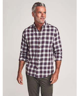 BRUSHED EVERYDAY BUTTON-DOWN SHIRT INDIGO HERITAGE TARTAN
