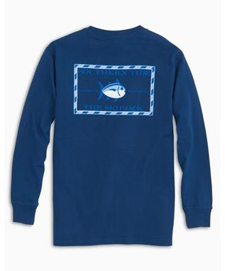 KIDS LONG SLEEVE ORIGINAL SKIPJACK T-SHIRT YACHT BLUE