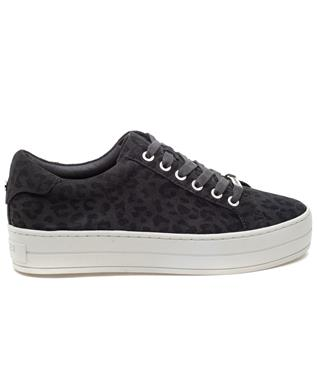 HIPPIE LACE UP SNEAKER GREY LEOPARD
